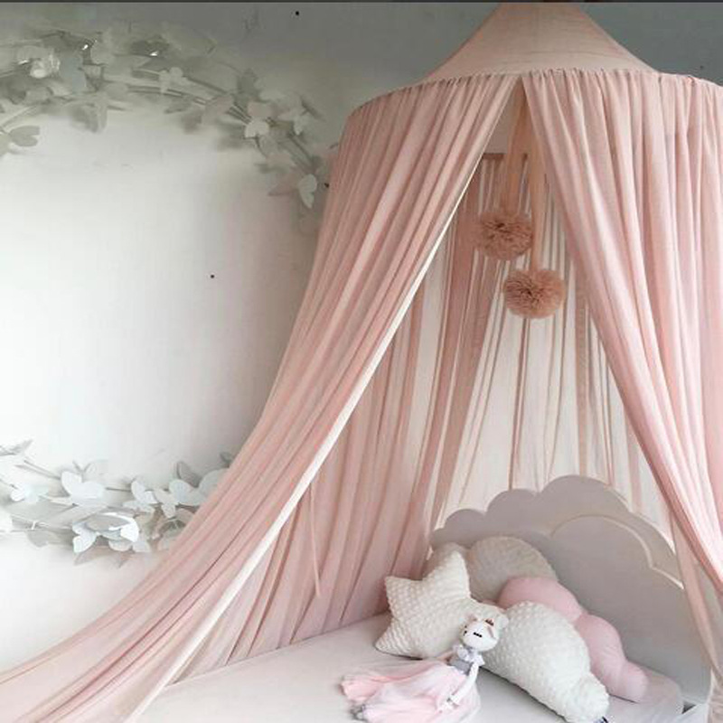 Elegant Baby Bed Canopy Round Mosquito Netting Curtain for Kids Room Decor Hanging Crib Baby Mosquito Net 50*240*260cm Tent ...