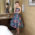 lovely floweer cocktail dresses 2017 off shoulder a line women pageant gown lace up satin formal prom dress
