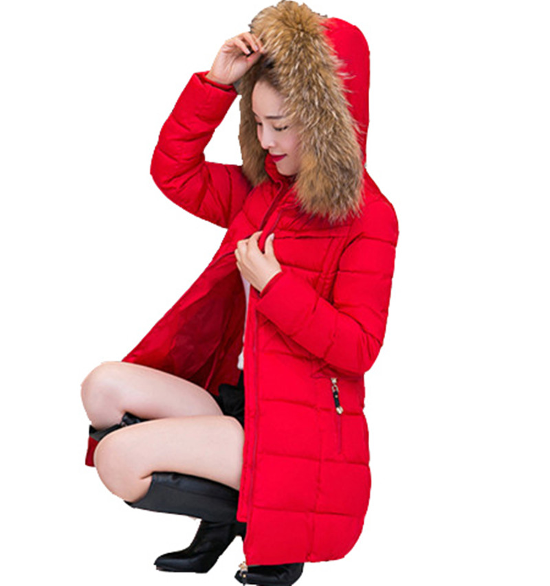 Abrigo de invierno Las Mujeres Cuello de Piel Sintética de Las Mujeres Chaqueta