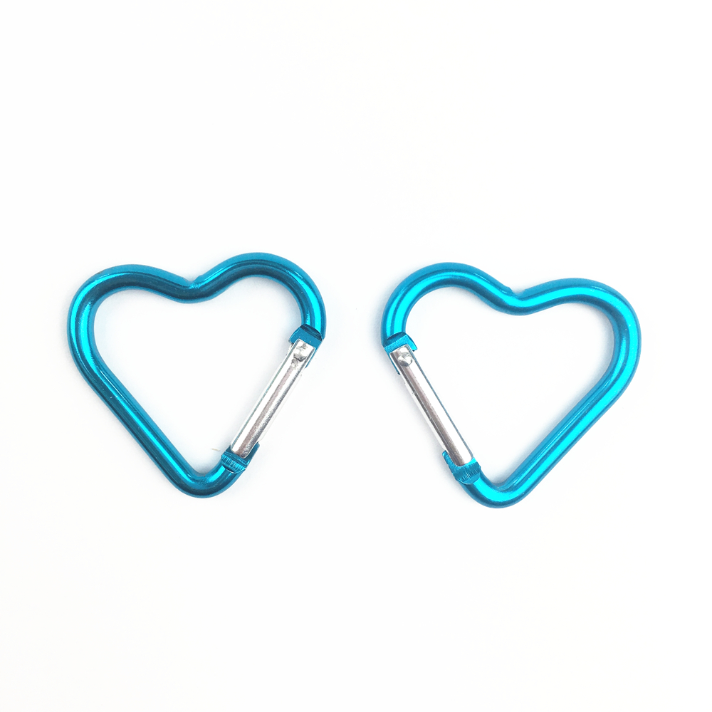 50 PC/Lot Heart Shaped Outdoor Survival Tool Carabiner Hook Buckle Hanging Padlock For Camping EDC Gear Mosqueton AA60-50P
