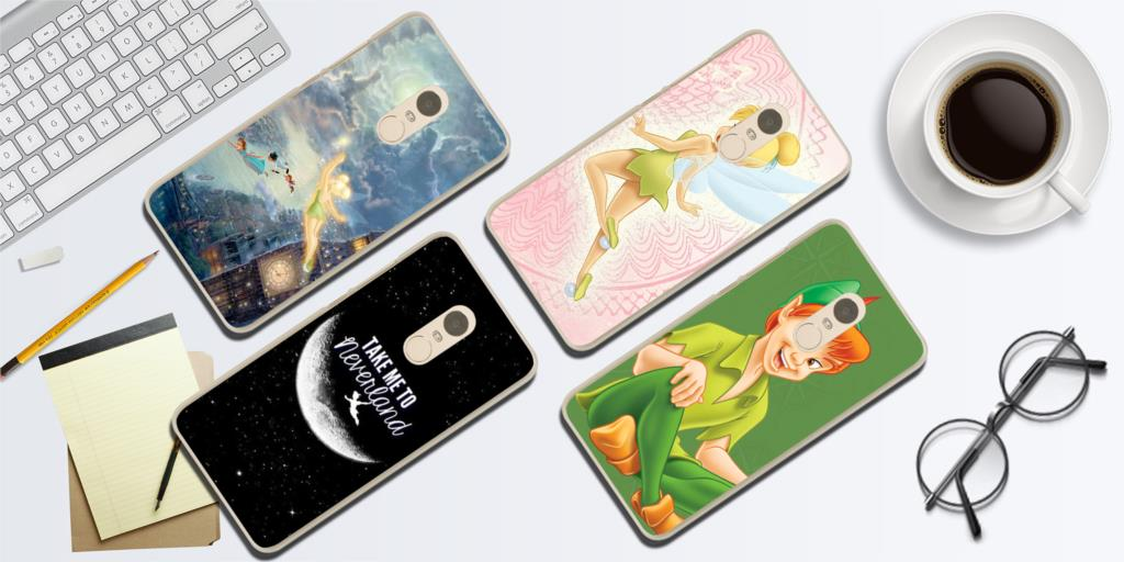 Tinker Bell And Peter Pan suitcase cover elastic suitcase cover zipper luggage case removable cleaning suitable for 29-32 trunk cover