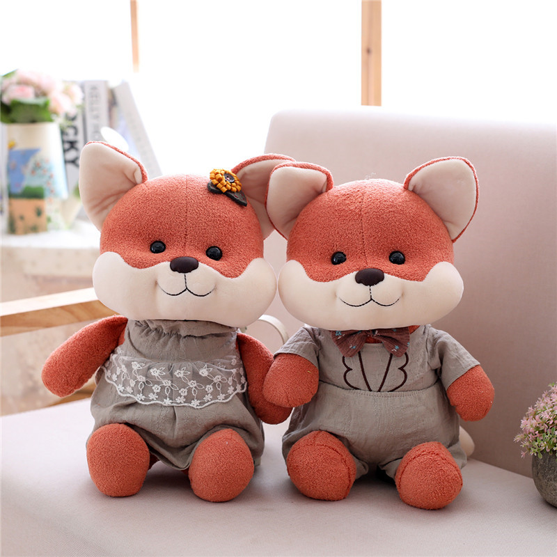 cute cartoon fox/mouse/rabbit/pig plush toys stuffed animal soft doll couple toy kids toys birthday gift for gitl and boy newborn baby bath toy cute cartoon animal water thermometer duck bear pig crocodile cow kids temperature tester bathroom toys