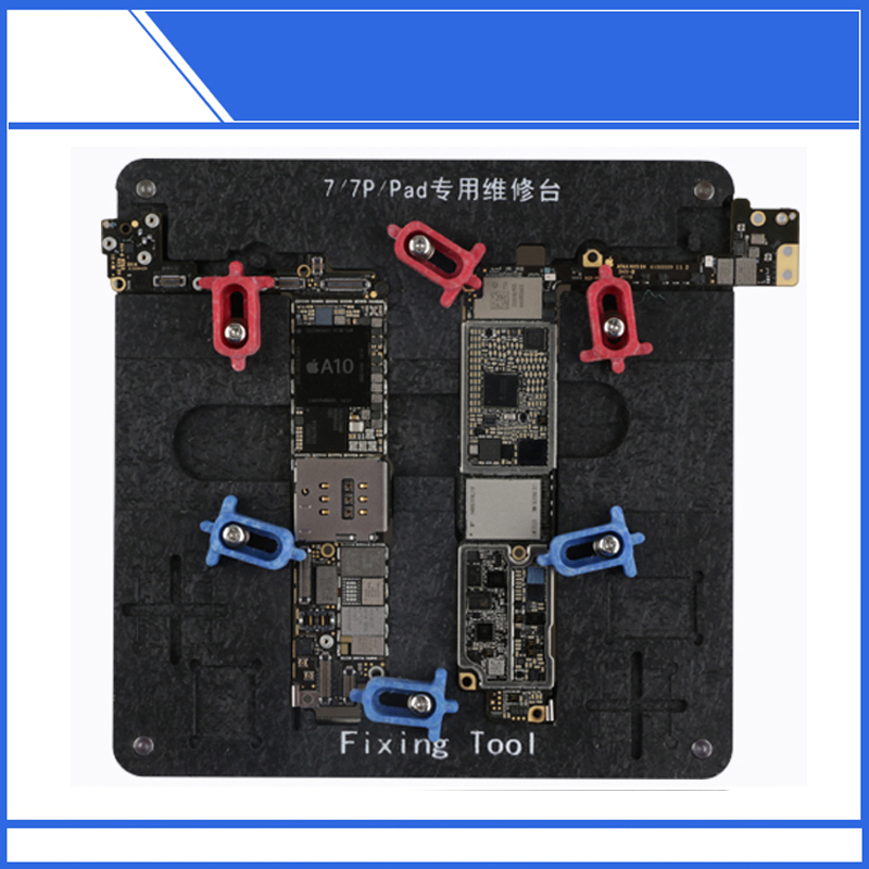 High Temperature Resistant MotherBoard PCB Holder Fixture Jig Work Station For iPhone 6 6P 6S 6SP 7 7P Logic Board Clamps high temperature resistant pcb motherboard test fixture jig holder maintenance repair platform for iphone 8 8p 7 7p 6 6s 5 5s