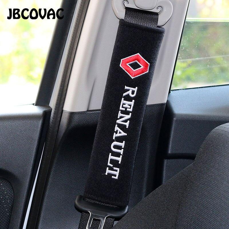 Автомобильный защитный чехол для ремня безопасности Автомобильный Стайлинг Аксессуары для интерьера чехол для Renault Megane 2 Duster Fluence Logan Captur Clio ...