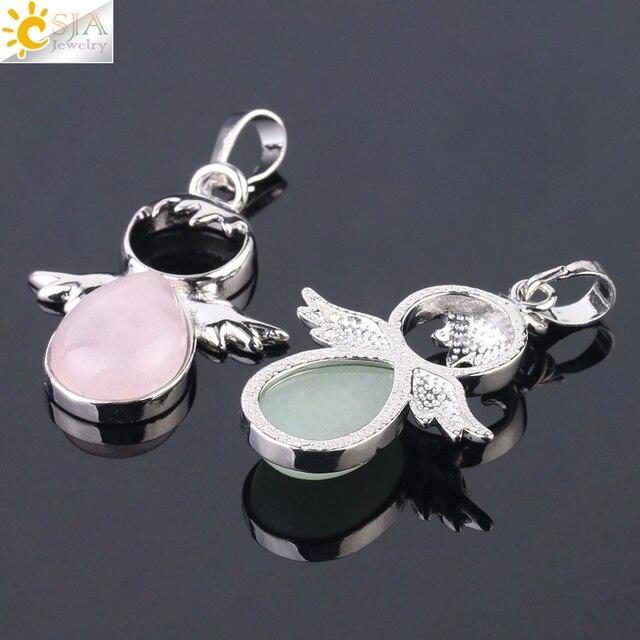 Фото подвески с ангельскими крыльями csja подвески камнями розового цена
