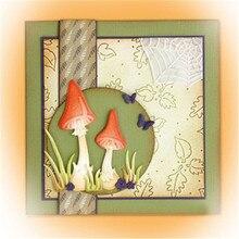 DiyArts 1 Pcs/lot Metal Cutting Dies Scrapbooking for Card Making DIY Embossing Cuts New Craft Die Mushroom