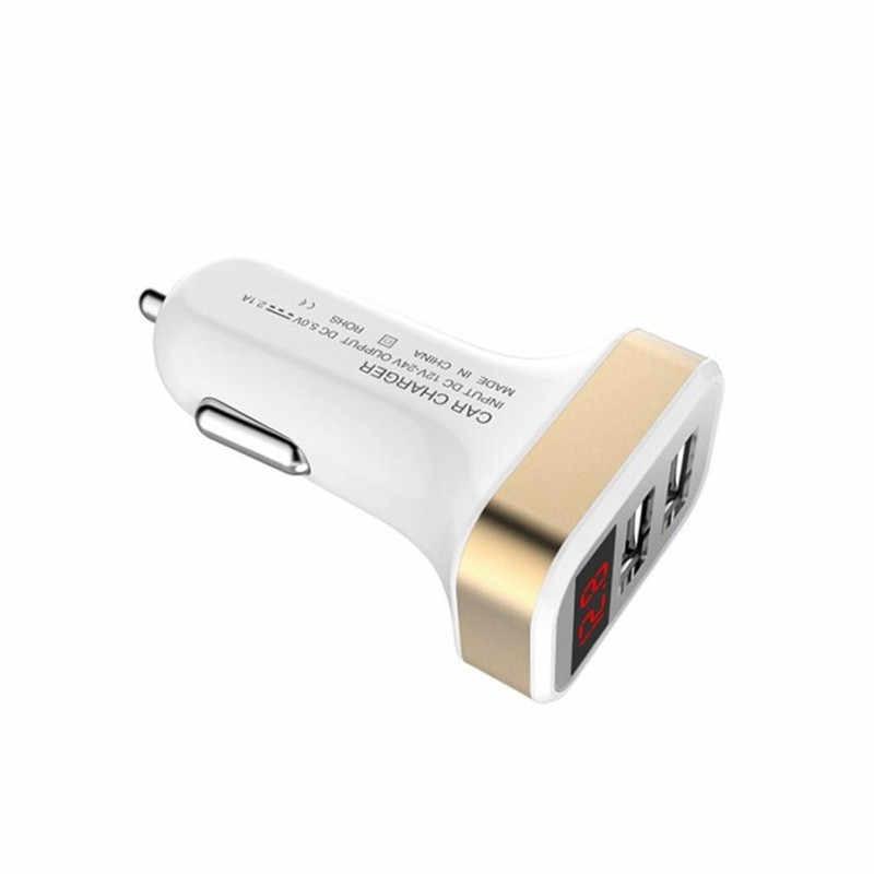 Mobil Elektronik Rokok 5 V 2.1A 2-Port USB Mobil Pengisi Daya dengan LED Layar Ponsel Pintar Pengisi Daya Adaptor july19