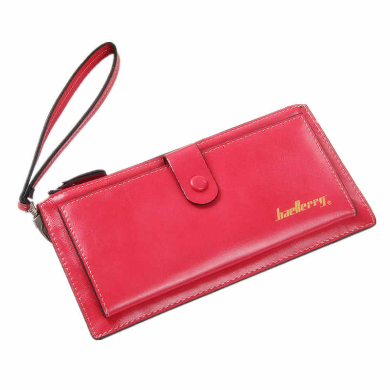 Женский большой кошелек с молнией, женская сумка, Женский кошелек-клатч, сумка для монет, держатель для телефона, Женская ультратонкая Яркая кожаная сумка на запястье, подарки