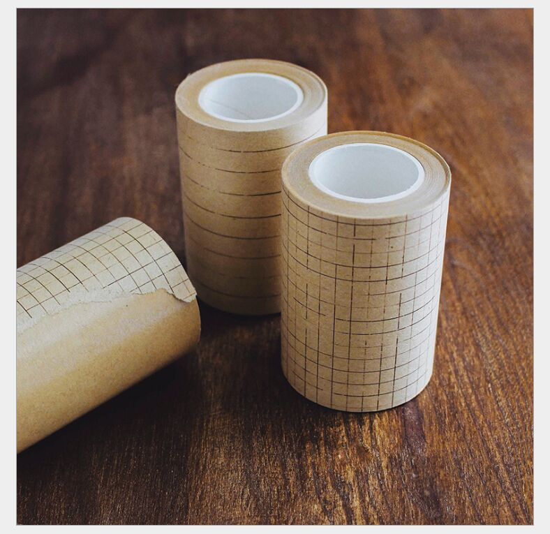 70mm Vintage Kraft Paper Square Grid Straight Line Decoration Washi Tape DIY Planner Diary Scrapbooking Masking Tape Escolar