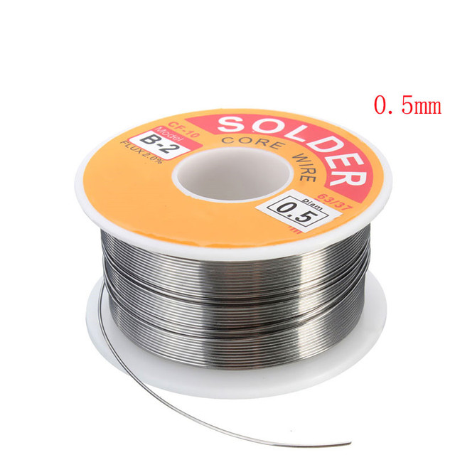 63/37 Rosin Core Solder Wire Flux 2% Tin Lead Solder Iron Welding Wires Reel 0.5mm-2.0mm 100g Flux Reel Welding Line 1