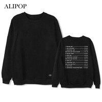 ALIPOP Kpop EXO The Elyxion Album Hoodie Hip Hop Casual Loose Hoodies Clothes Pullover Printed Long