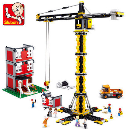 ФОТО 1461pcs Heavy cranes series Building Blocks Tower cranes DIY Construction Kids Creative Bricks Toys compatible with legoe