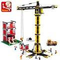 1461pcs Heavy cranes series Building Blocks Tower cranes DIY Construction Kids Creative Bricks Toys compatible with legoe