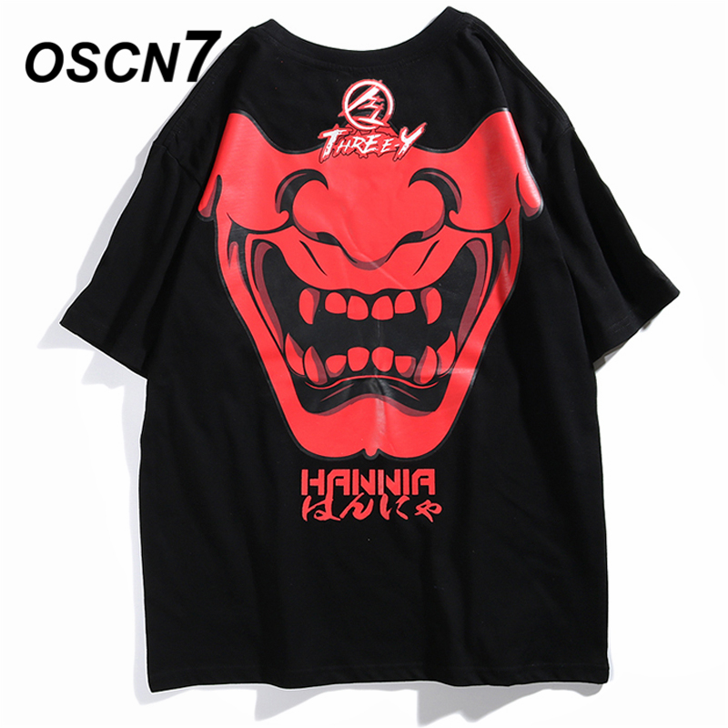 OSCN7 Graphics Print Men's T-Shirts 2019 Summer Funny Short Sleeve Tshirts Summer Hip Hop Casual Women Top Tee Streetwear 6003