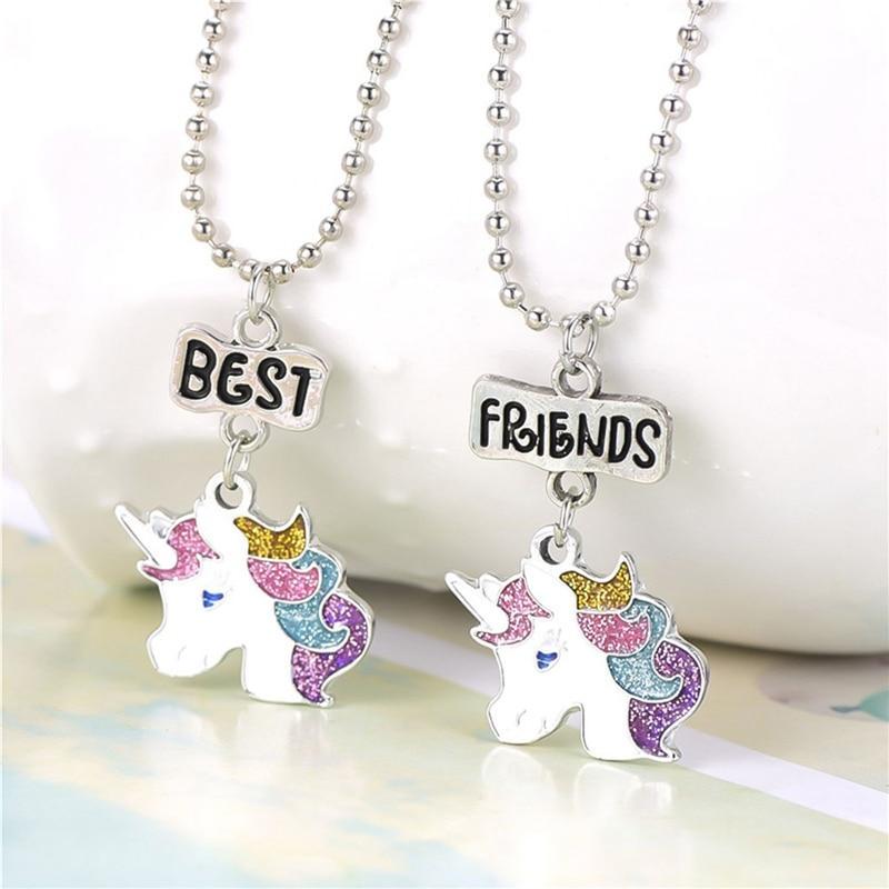 New Design 2pcs Set Unicorn Pendant Necklaces For Children Boys And Girls Best Friend Friendship Necklace Chain Jewelry Pendant Necklaces Aliexpress