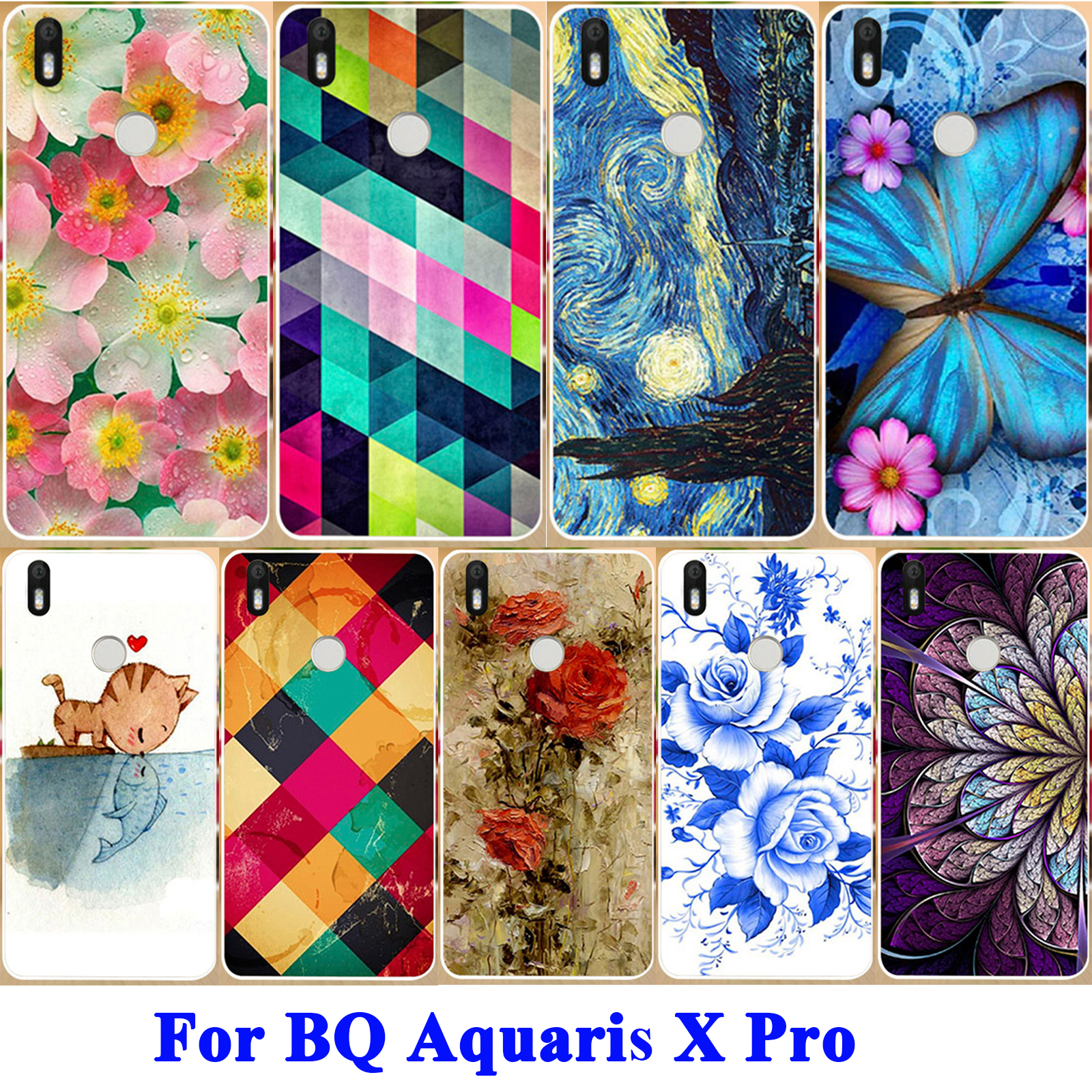 AKABEILA Luxury Floral Painted Phone Case For BQ