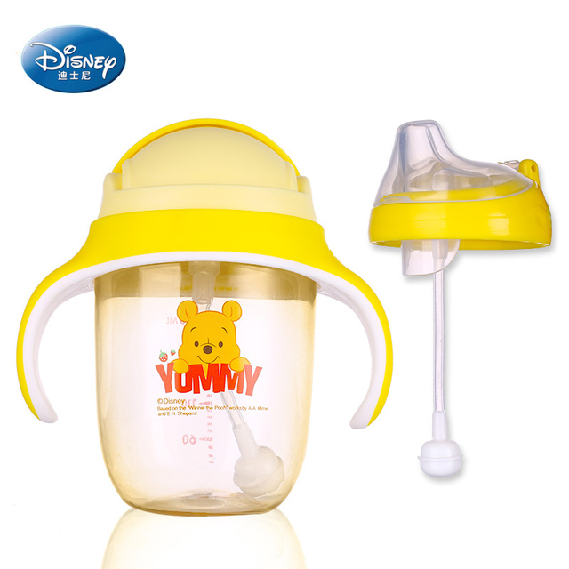 Disney PPSU Sippy/Straw Cup with Weighted Straw and Heat Sensor 240ML