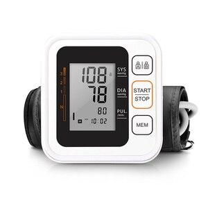 Image 2 - Cigii Portable Digital Upper Arm Blood Pressure Monitor Heartbeat test Health care monitor 2 Cuff Tonometer