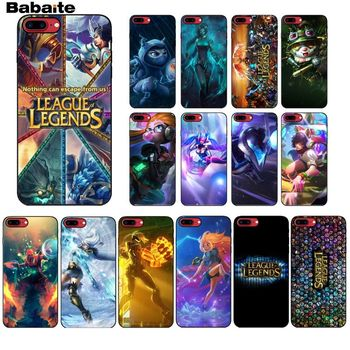 Babaite League of Legends LOL Colorful Cute Phone Accessories Case for iPhone X XS MAX 6 6S 7 7plus 8 8Plus 5 5S XR лол блинг
