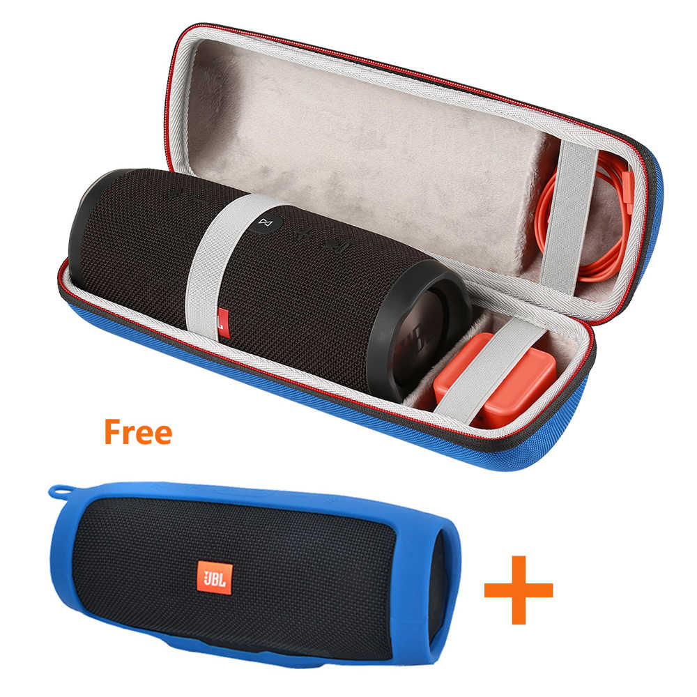 2019 Newest EVA PU 2 in 1 Carry Protective Box Pouch Cover Bag Case for JBL Charge 3 Charge3 Speaker-Extra Space for Plug&Cable