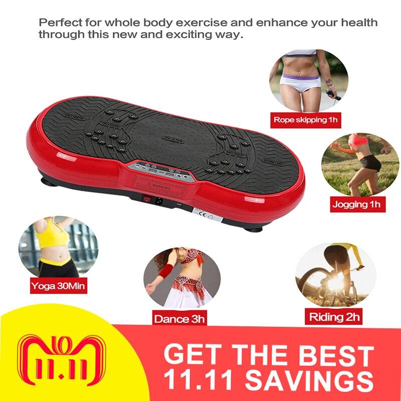 Versione aggiornata di ultra-sottile di vibrazione di massaggio bordo macchina di perdita di peso bruciare i grassi home gym esercizio attrezzature per il fitness HWC