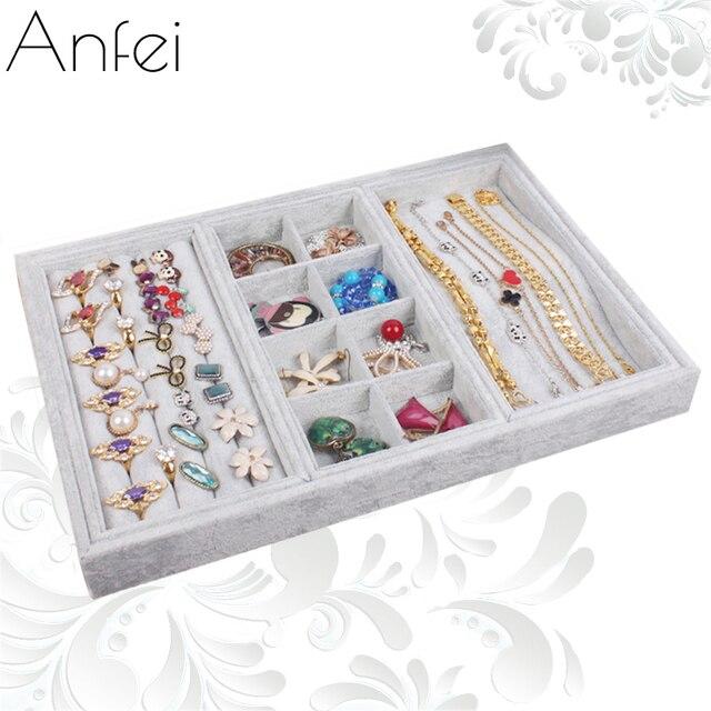 Jewelry Box Jewelry Organizer Necklace Display Rings Storage