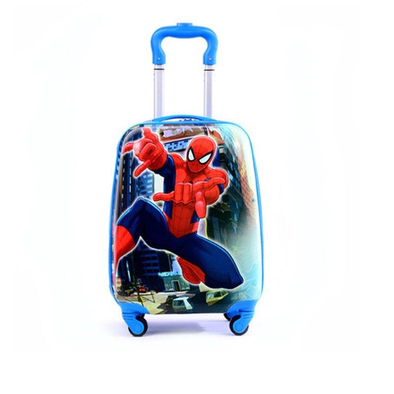 2019 Cartoon enfants voyage Trolley sacs valise pour enfants enfants bagages valise roulante sac de voyage sur valise à roulettes