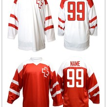 564e13631 Vintage Retro Team Switzerland HOCKEY JERSEY Embroidery Stitched Customize  any number and name Jerseys(China