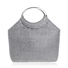 hot deal buy 2018 new vintage diamond bridal wedding purse ladies mini party handbags women bag wristlets clutches crystal evening clutch bag