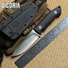 DICORIA Harmony VG 10 Blade G10 Handle Fixed Blade Hunting Straight Knife KYDEX Sheath Camping Survival