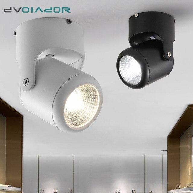 DVOLADOR LED COB צמודי Downlight 180 זווית מתכוונן 20 W/15 W/10 W/7 W תקרת ספוט אור AC110/220/230 V בית תאורה