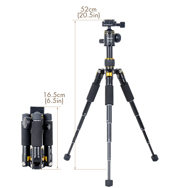 XILETU FM5S-MINI Lightweight Alluminum Tripod Tabletop Mini Travel Stand Tripod with 360 Degree Ball Head For Digital Camera photography pocket mini tripod 360 degree ball head digital camera adjustable photo stand camera holder