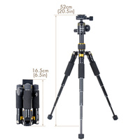 XILETU FM5S MINI Lightweight Alluminum Tripod Tabletop Mini Travel Stand Tripod with 360 Degree Ball Head For Digital Camera