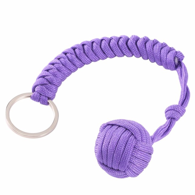Monkey Fist Steel Ball Outdoor Security Protection Bearing Self Defense Lanyard Survival Tool Key Chain Multifunctional Keychain 4