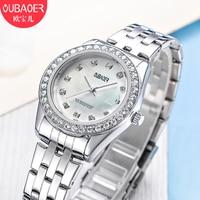 Relogios Femininos Fashion Brand Luxury Calendar Quartz Watch Ladies Watch Women Gold Rhinestone Bracelet Waterproof Watches