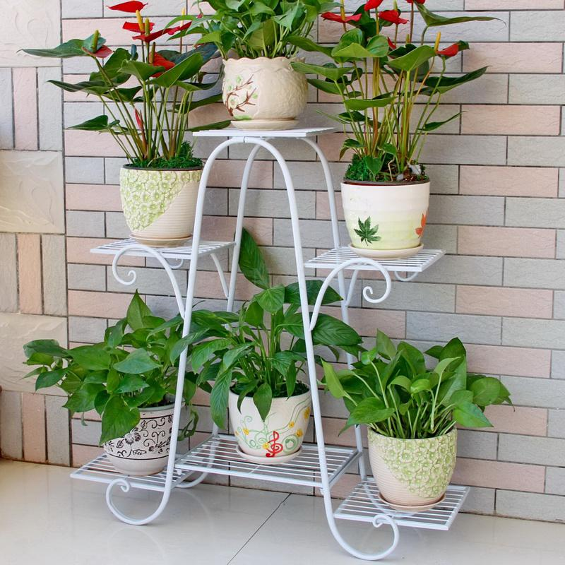 Flower Shelf Multi-storey Indoor Special Home Balcony Decoration Frame Wrought Iron Living Room Space Flower Pot Floor-standing