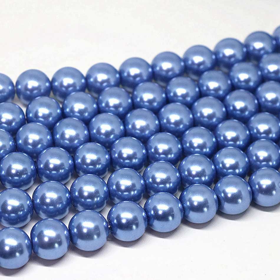 Biru Akrilik Bulat Imitasi Shell Pearl Beads 46 810 1214 Mm Tutup Kancing 12 Merah Baut L6 Cocok Untuk Diy Gelang Kalung Wanita Perhiasan Membuat 15 Inch B1611