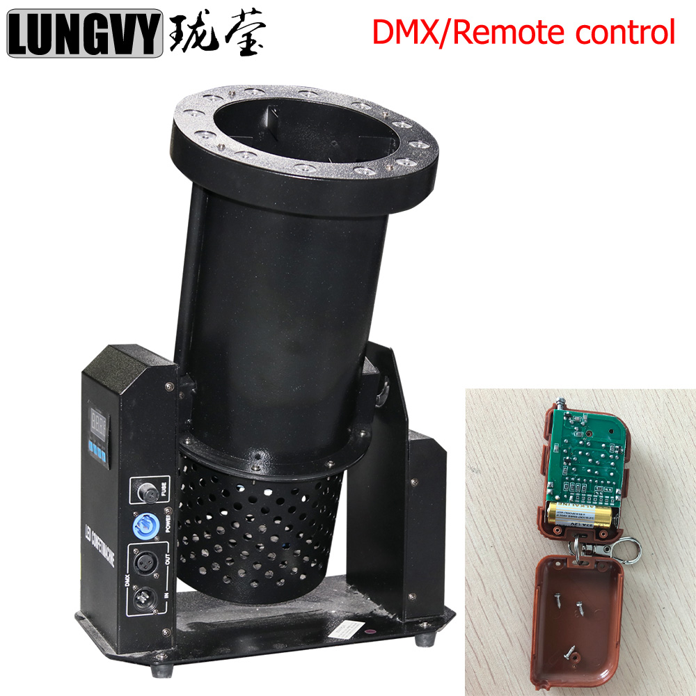 Free Shipping 12x3w LED Confetti Machine DMX Remote Control 1200W DJ Stage Special Effect Wedding Party