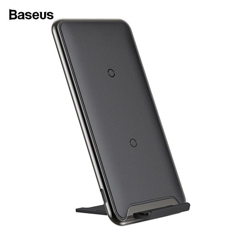 Baseus 10 W QI cargador inalámbrico para iPhone Xs Max Xr 8X8 Samsung Nota 9 8 rápido inalámbrico almohadilla de carga Docking estación Dock