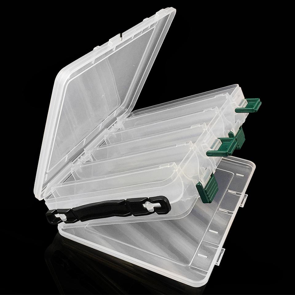 Pesca de la Caja accesorios abordar señuelos cebo de almacenamiento caso Camarón cajas para aparejos de Pesca cebos de Pesca 10 compartimentos de señuelos