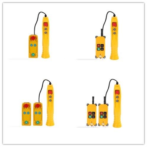 COB avec D'arrêt D'urgence Antipluie Hoist bouton poussoir pour grue de levage Contrôle Pendentif Contrôleur 220 V