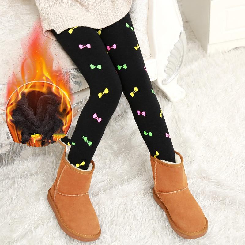 Stil; In Gastfreundlich Liligirl Mädchen Warm Bunte Baumwolle Leggings Für Baby Winter Gedruckt Cartoon Kleidung Kinder Plus Samt Legging Hose Modischer