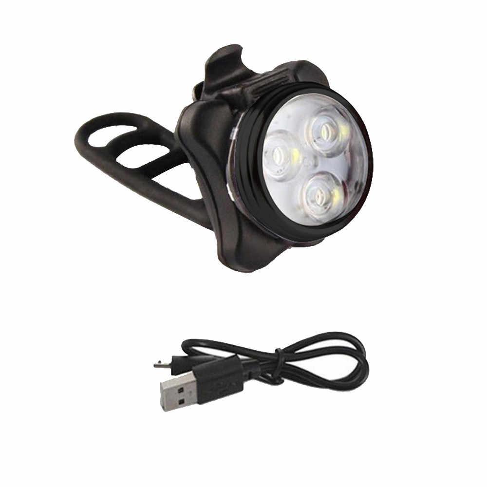 Велосипедный велосипед 3 светодиодный головной передний с USB Перезаряжаемый Задний зажим свет лампы Открытый Велоспорт велосипед аксессуары 4 режима