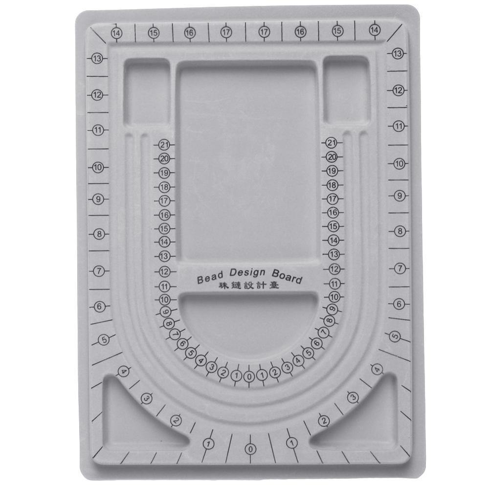 Flocked Bead Board Bracelet Beading Jewelry Organiser Tray DIY Craft Tool