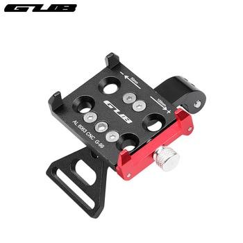 GUB Alloy Anodized Bicycle Stem Install Mobile Phone Mount Sports Camera Holder Headlight Torch Bracket 50-100mm Adjust