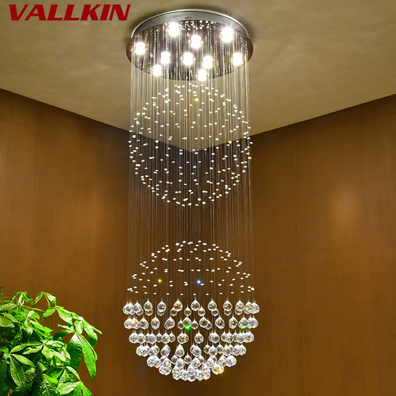 Luxury Crystal chandeliers contemporary lamp GU10 LED Crystal lights Chandelier Hanging LED Lamp Bedroom decoration Lighting