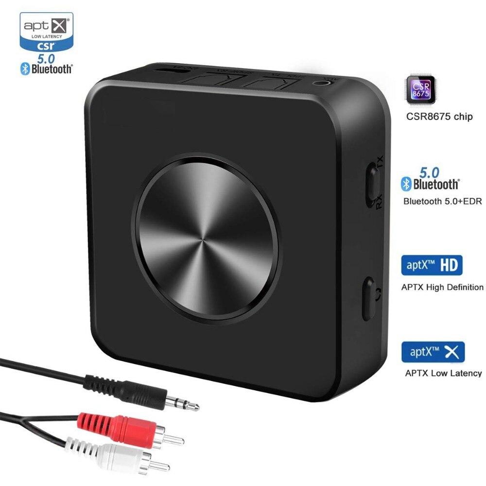 2019 Mode Drahtlose Bluetooth 5,0 Csr8675 Aptx Hd Niedrigen Latenz Adapter Optische Spdif Aux Stereo 3,5mm Audio Tv Sender Lautsprecher Empfänger Hohe QualitäT Und Geringer Aufwand Funkadapter Unterhaltungselektronik