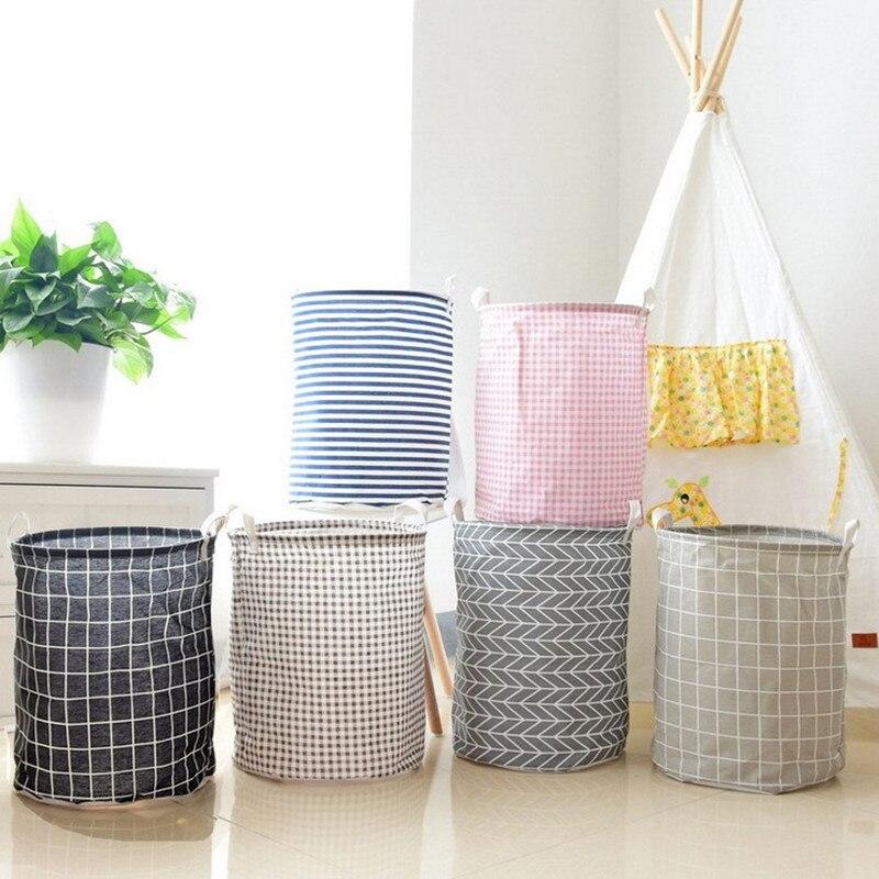 35x45cm Geometric Folding Laundry Basket Storage Barrel Toys Clothing Storage Bucket Laundry Organizer Holder Pouch Household