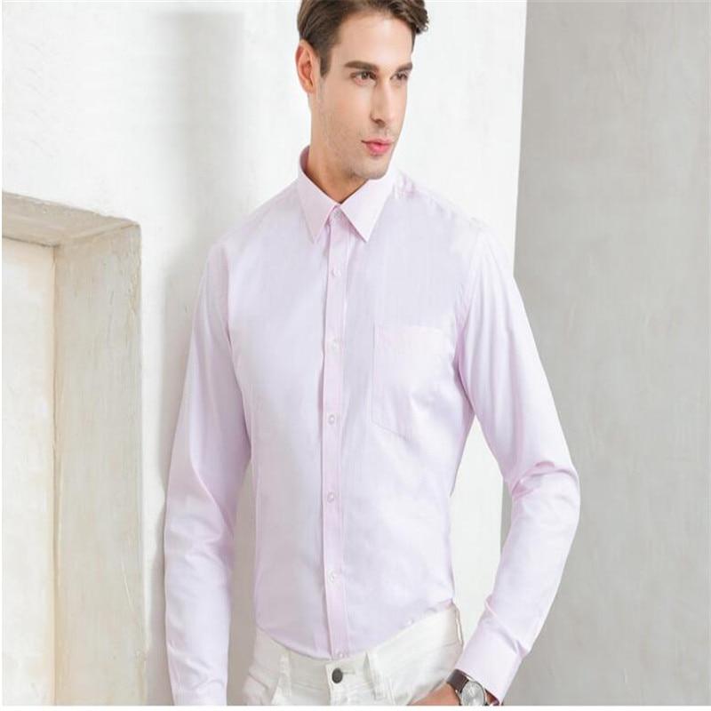 Weißes Herrenhemd mit langen Ärmeln / Günstige Slim Fit Hemden - Herrenbekleidung - Foto 3