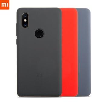 Xiaomi Mi MIX 2 S Siliconen Case Originele Mi Mix2S Siliconen PC Mi Mix2S Cover Zwart en PET Screen Protector (Mi MIX 2 S)